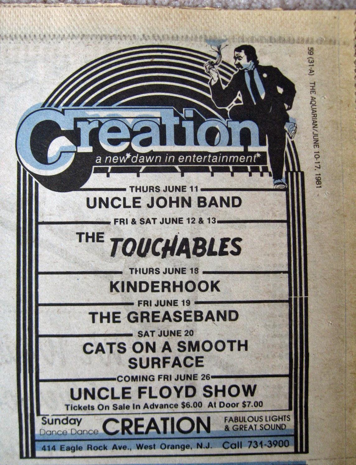 Creation band line up 1981