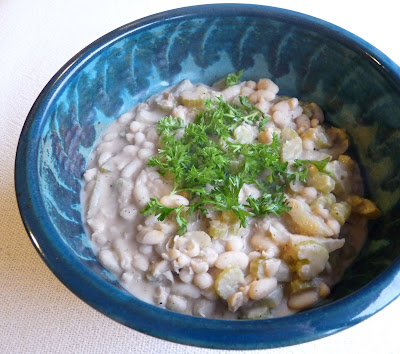 White Beans with Celery & Cream
