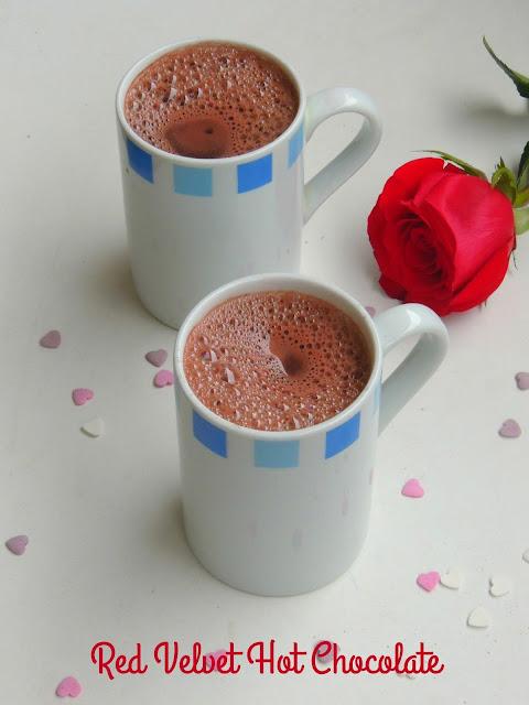 Valentine's day Red velvet Hot chocolate