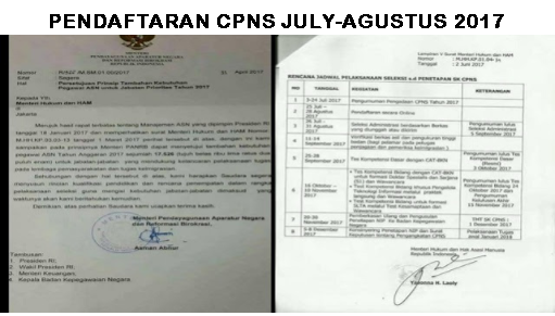 Pendaftaran CPNS Telah Dibuka 25 Juli-28 Agustus 2017 Buruan Daftar