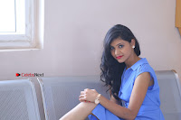 Telugu Actress Mounika UHD Stills in Blue Short Dress at Tik Tak Telugu Movie Audio Launch .COM 0233.JPG