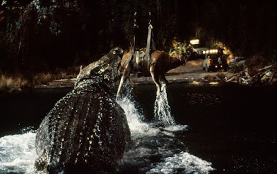 Lake Placid 1999 horror movie still crocodile eating cow