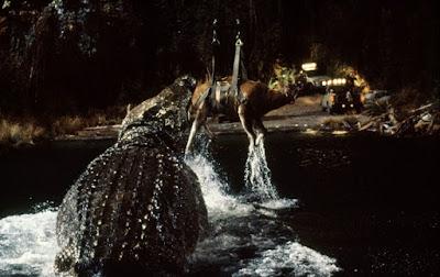 Lake Placid 1999 horror movie still crocodile eating cow