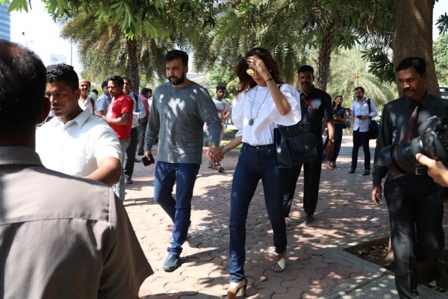 Shilpa Shetty with Raj Kundra Spotted at Yauatcha BKC