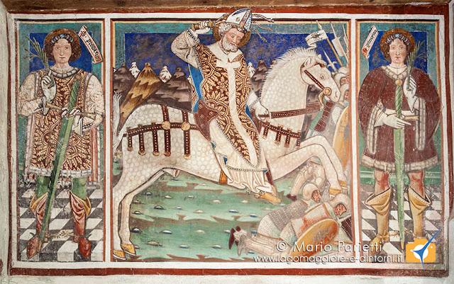 affresco S. Ambrogio a cavallo a Negrentino