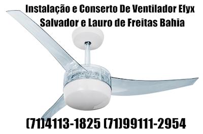 Instalação de Ventilador de Teto Tron em Salvador(71)99111-2954