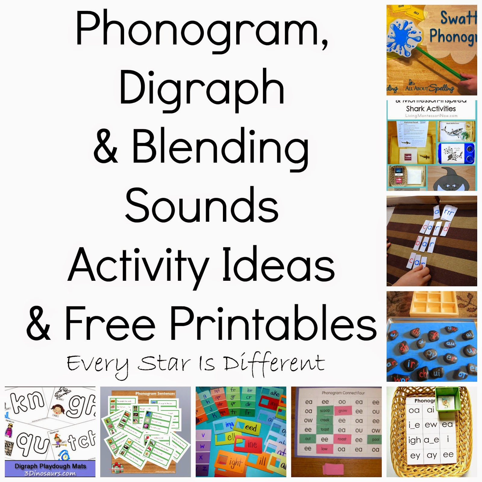 Phonogram Digraph Amp Blending Sounds Activity Ideas Amp Free