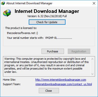 Internet Download Manager IDM 6.32 Build 2 Crack Serial Key