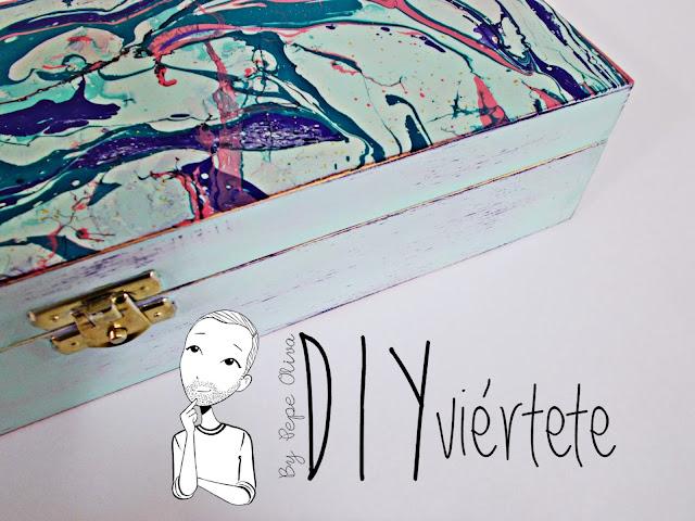 DIY-caja-madera-manualidades-marmoleado-marmolado-pinturas-Opitec-Handbox-mint-colores-vintage-1
