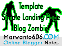 Template Simple Landing Page Blog Zombie