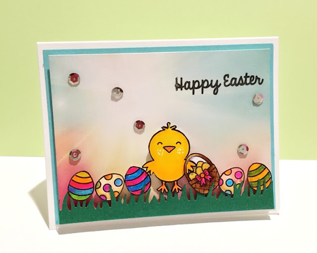 Sunny Studio: A Good Egg Easter Card by Neha Tulsyan.
