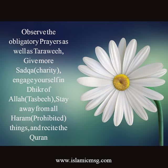 obligatory Prayers as well as Taraweeh