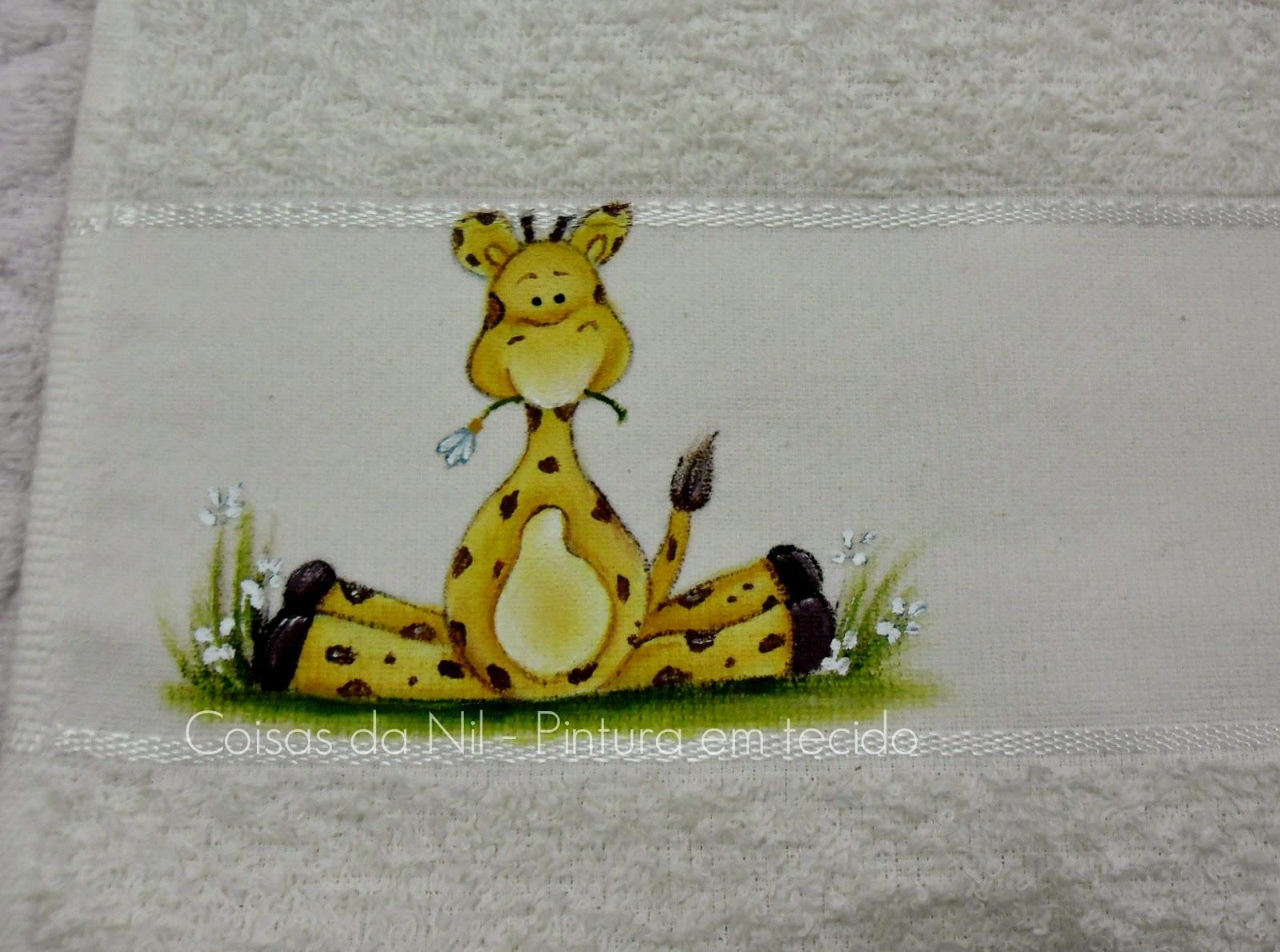 pintura tecido girafa