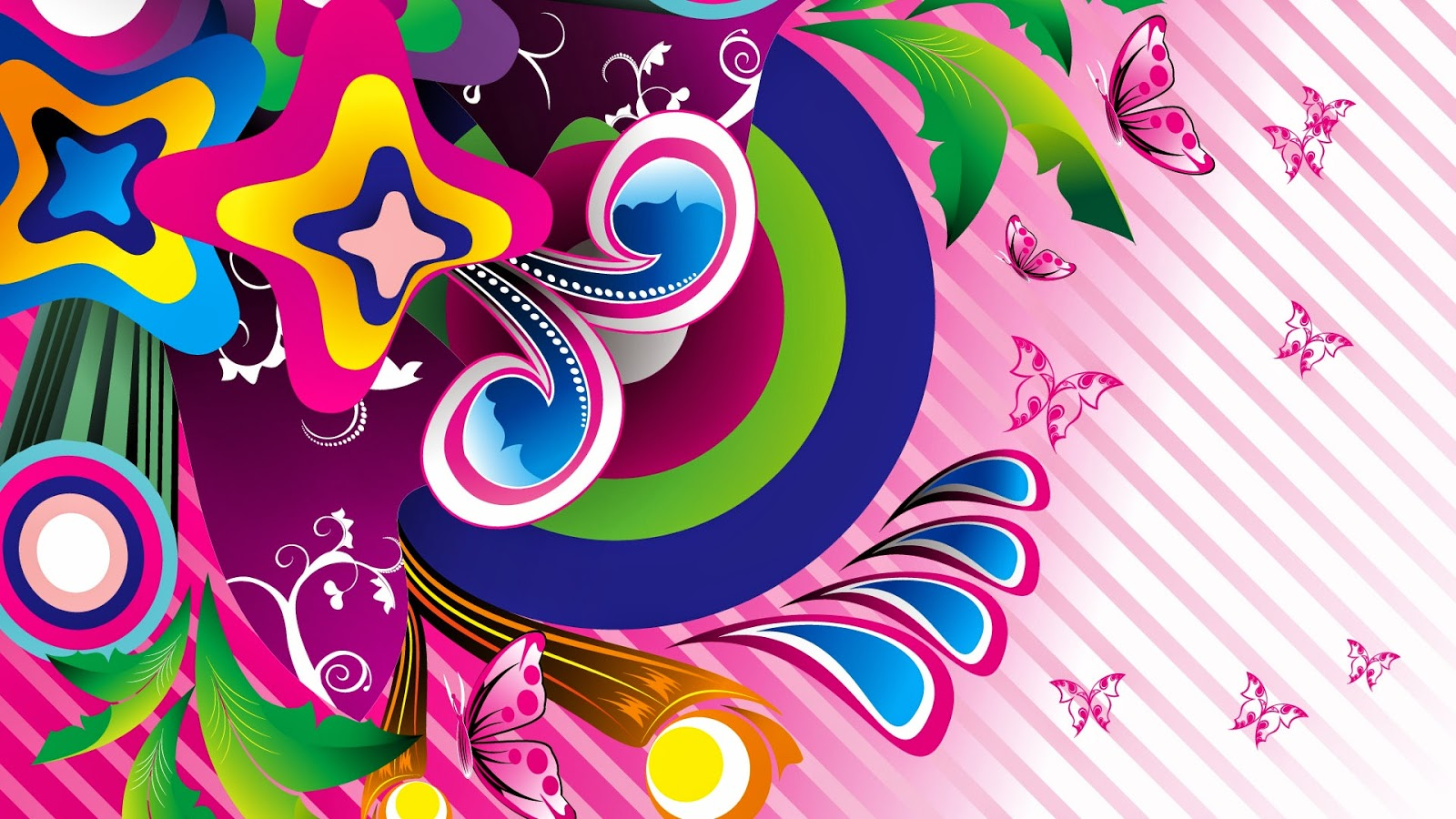 Colorful butterfly designs background for desktop abstract for Wallpaper design ideas