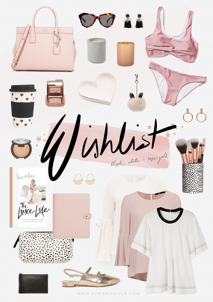 blush pink rose gold wishlist Forever New Sportsgirl Cotton On