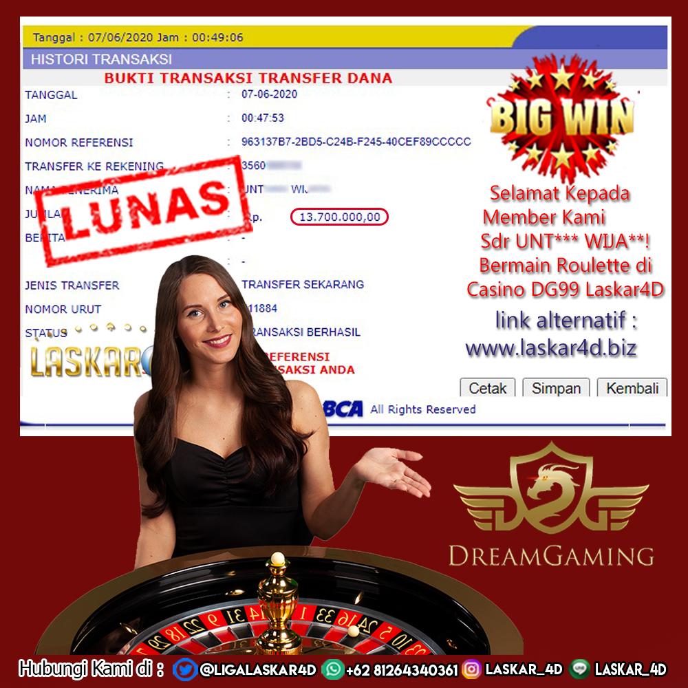 Dengan Kemenangan Besar Bermain Di Roulette DG Casino LASKAR4D!