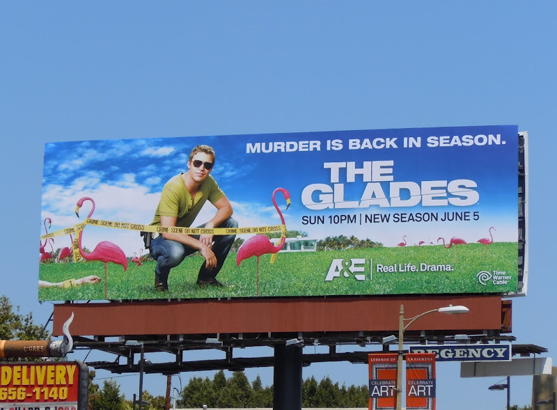 The Glades season 2 billboard