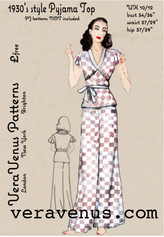 b4f7e2694ec38a The Vintage Pattern Files: 1930's Sewing - 1930's Pajama Top