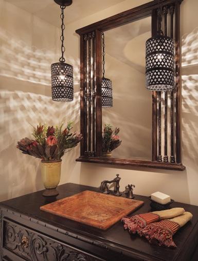 belle maison lighting ideas for the powder bath. Black Bedroom Furniture Sets. Home Design Ideas