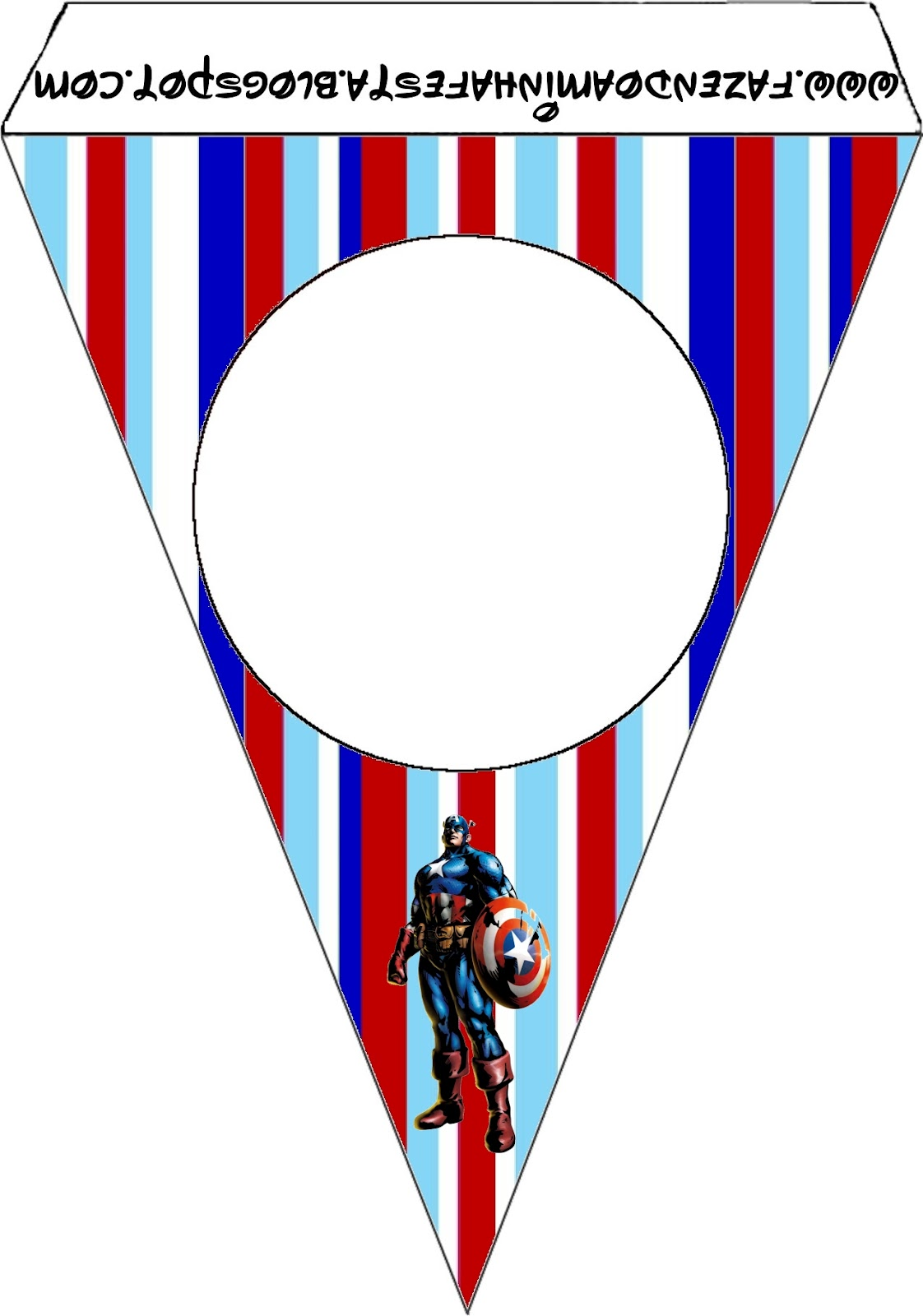Captain America Free Party Printables And Images Oh My Fiesta In English