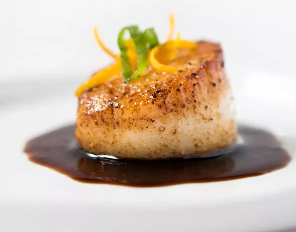 Orange Soy Glazed Scallops