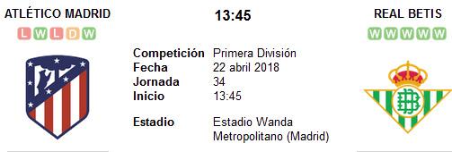 Atlético de Madrid vs Real Betis en VIVO