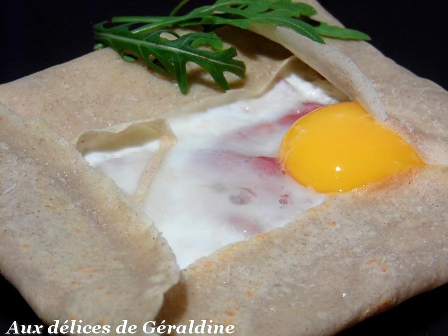 Aux d lices de g raldine galette de sarrasin au parmesan coppa et oeuf - Galette sarrasin sans oeuf ...