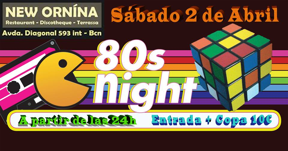 Flyer Fiesta 80s Night