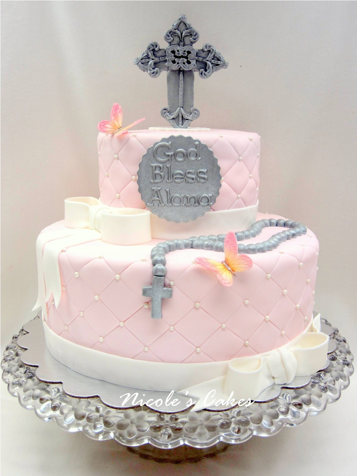 Confections Cakes Amp Creations Pink First Holy Communion