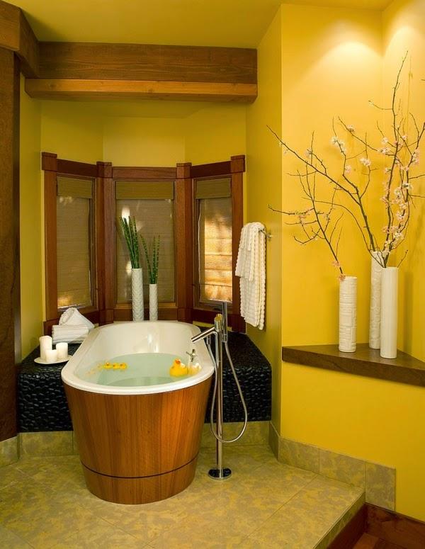 Decoraci n de ba os color amarillo colores en casa for Elementos del bano