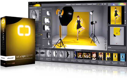 Simulator lighting studio fotografi 3D Studio light