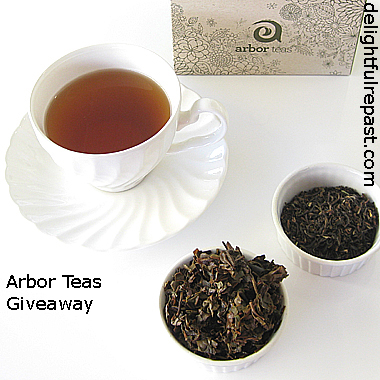 Arbor Teas Giveaway - Organic Tea and Stainless Steel Infuser / www.delightfulrepast.com