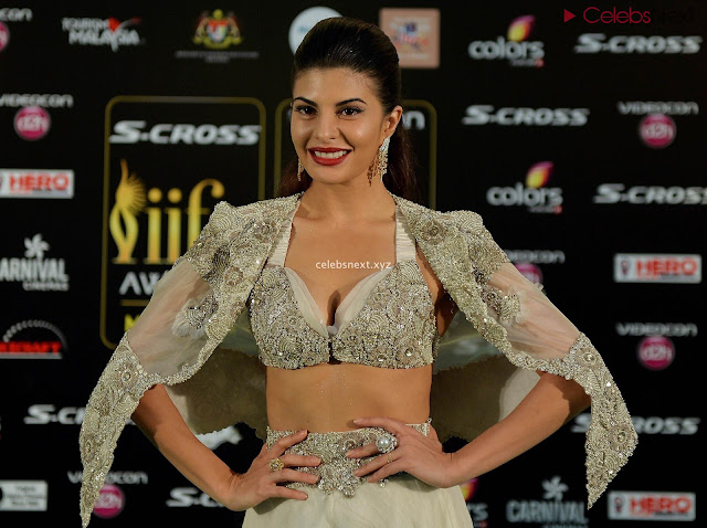 Jacqueline Fernandez Spotted at an event in glittering Deep neck Gown   July 2018    Exclusive Pics 001.jpg