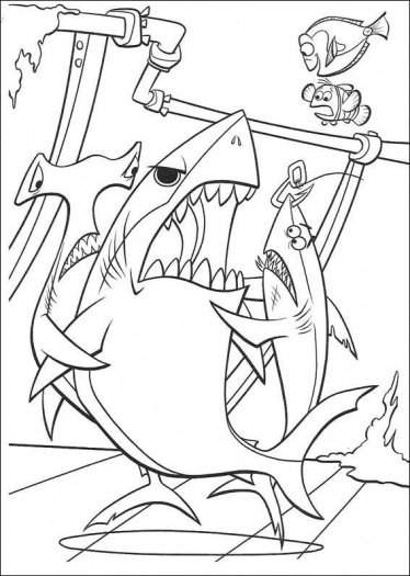 Marlin & Nemo - Disney's Finding Nemo Coloring Pages Sheet, Free ... | 525x374