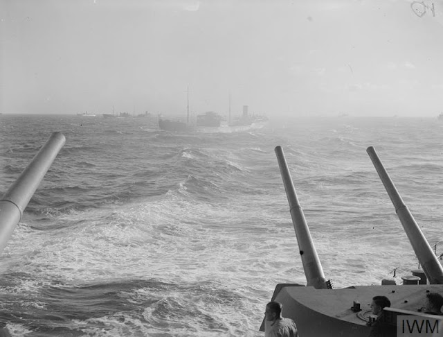 HMS Prince of Wales with a convoy at sea, 15 August 1941 worldwartwo.filminspector.com