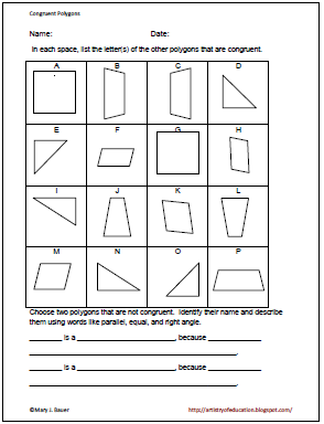 Printables Congruent Polygons Worksheet congruent polygons worksheet davezan