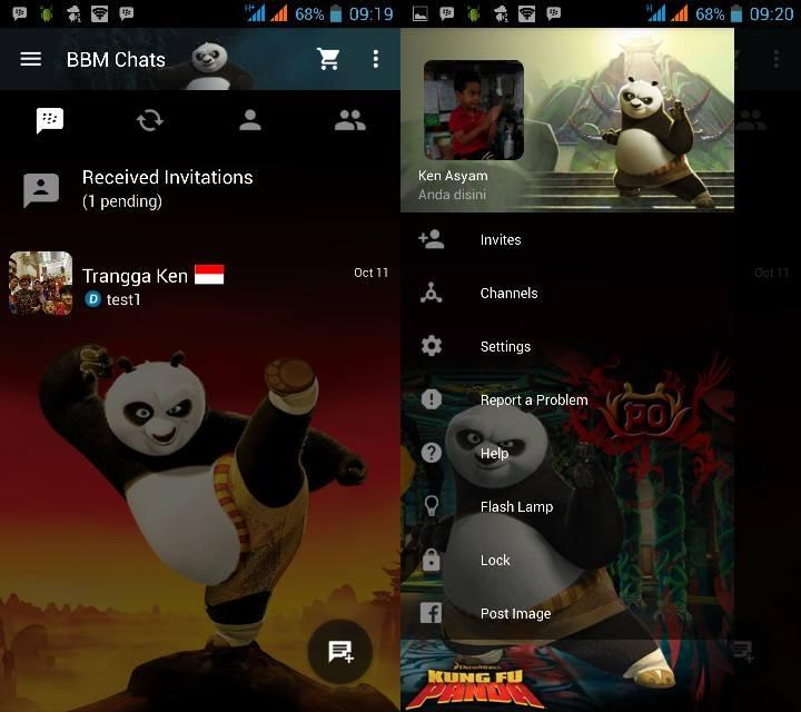 MOD BBM v2.10.0.31 Clone - Kungfu Panda