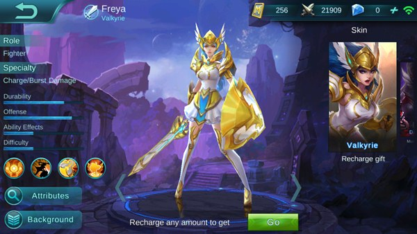 claim hero freya gratis mobile legends