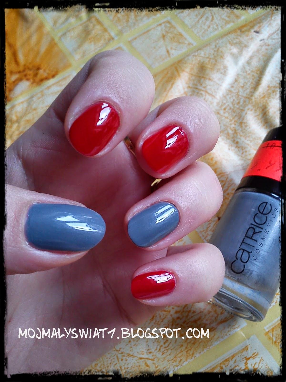 paznokcie z czerwienią