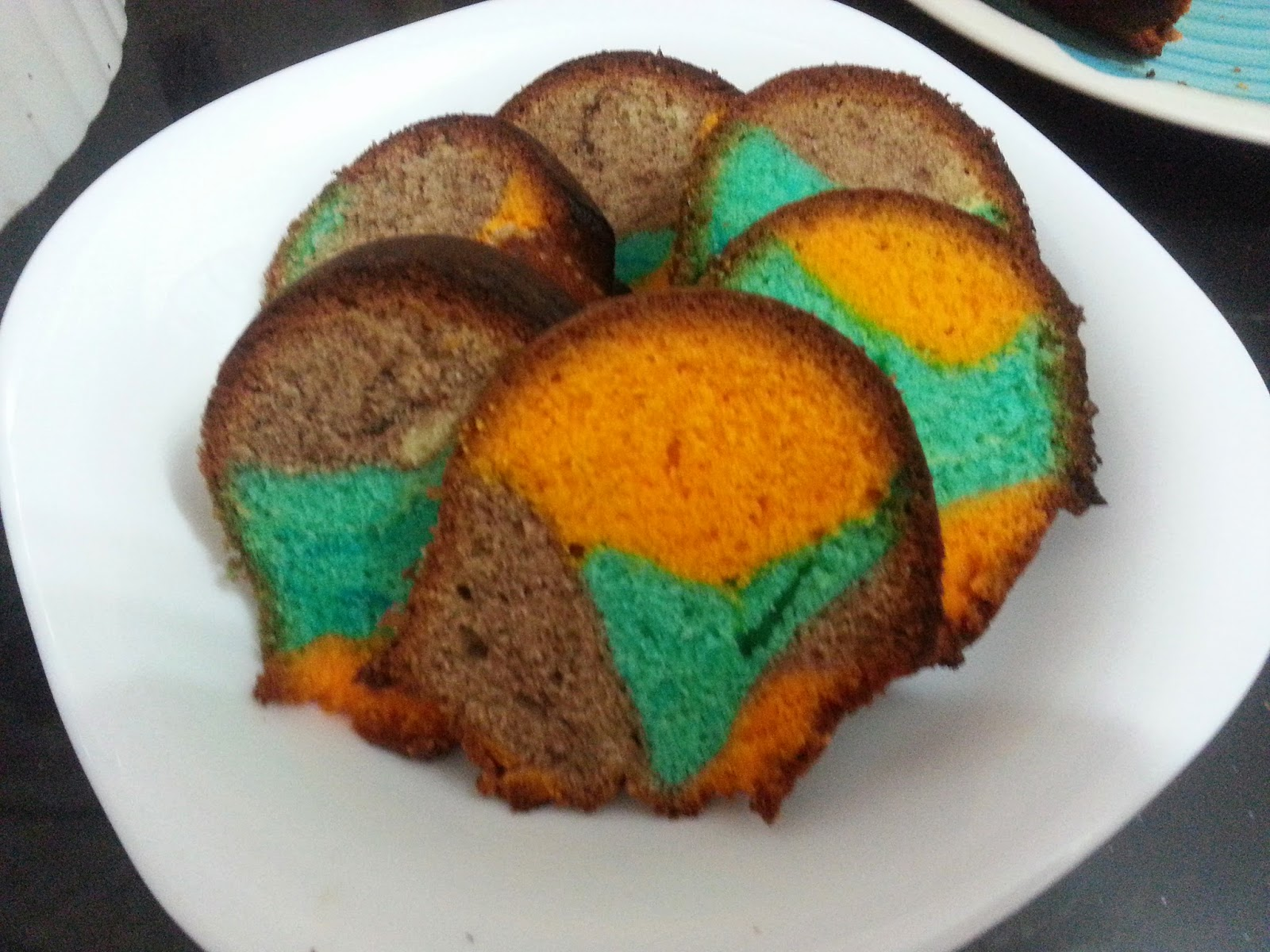 What I Have Cooked Tri Color Marble Cake