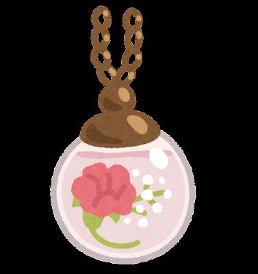 ガラスドームアクセサリーのイラスト(花)