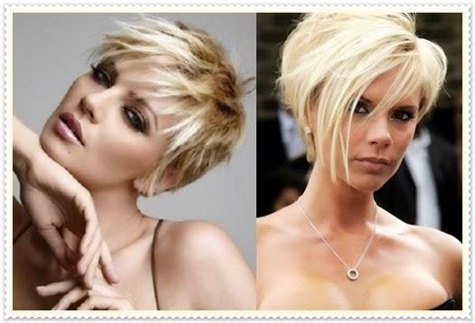 Neue blonde Haarfarbe und Frisur