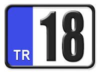 18 Çankırı plaka kodu