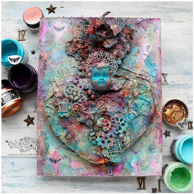 @nastyalena #canvas #mixedmedia #alteredart