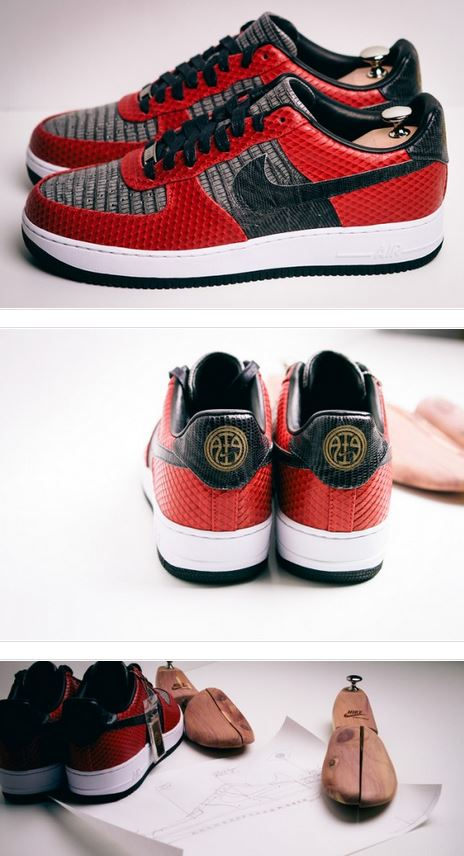 Here is images of a pair of Andre Iguodala x Marcus Troy x Nike Air Force 1  Bespoke Sneakers  8fa601d3daec