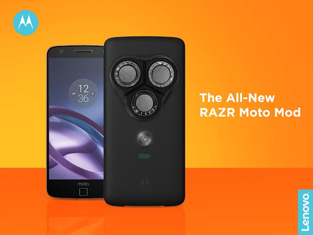 "Motorola announces non-irritable, customisable and portable ""RAZR Moto Mod"""
