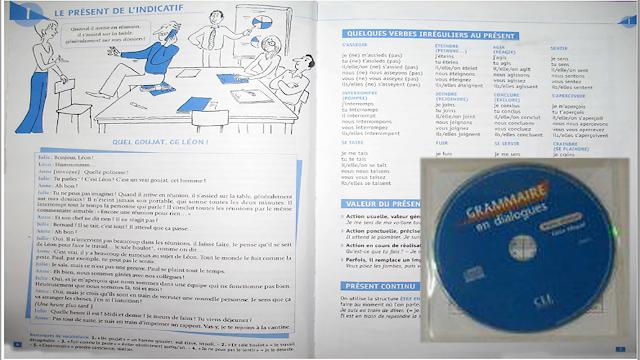 كتاب صوتي رائع يعلمك اللغة الفرنسية وقواعدها بشكل إحترافي مع حوارات + أسطوانة المقاطع الصوتية + تمارين للتحميل مجانا