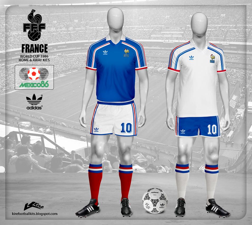 official photos b75e7 6ee77 Kire Football Kits: France kits World Cup 1986