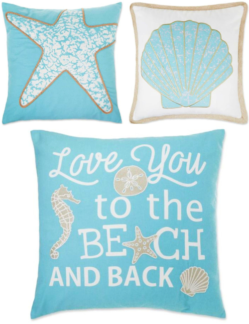 Pastel Blue Beach Pillows