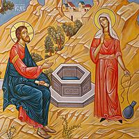Christ talking to the Samaritan woman